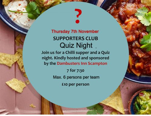 Quiz Night & Supper at the Dambusters Inn